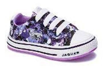 Zapatilla Jaguar Kids 138 Camufla Lila 19 20 21 22 23 24 26