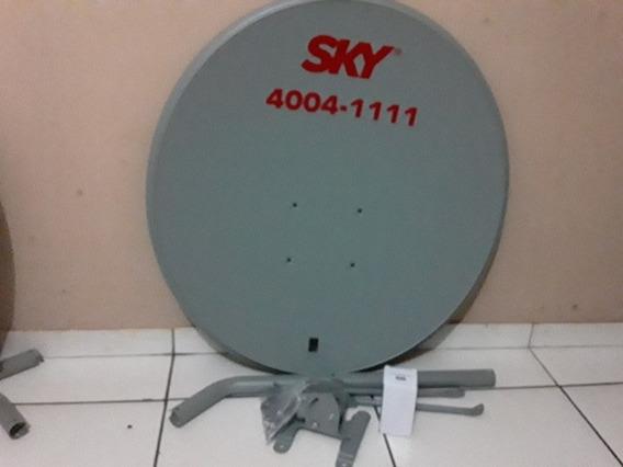 Antena Da Sky Com A Bacia E Lnbf 75 Com Tudo Novos