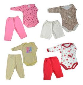 Body+calça Bebê Recém Nascido Feminino - Kit 4+4= 08 Peças