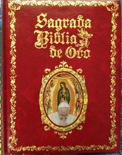 Biblia Catolica De Oro Con Atril.