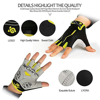 Cool Change Cycling Gloves Mountain Bike Gloves Sbr Pad