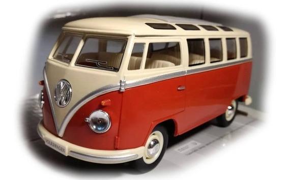 Volkswagen Combi Classical Bus Van 1962 1/24 Kinsmart