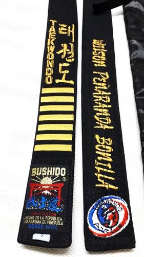 Cinta Cinturon Bordado, De Artes Marciales, Karate Taekwondo