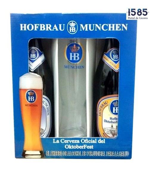 Cerveza Estuche Hofbrau 2 Cervezas + Cop - mL a $32