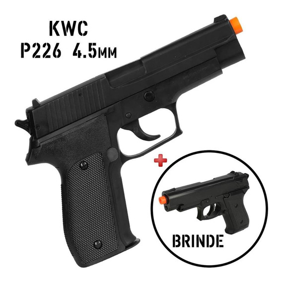 Pistola Pressão Chumbinho Esfera Aço 4.5 Kwc P226 + Brinde