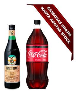 Fernet Branca 750 Ml + Coca Cola Zero 2,25 L De Regalo