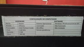Cpu Itautec 2gb 2.60ghz 160gb Pentium Inside