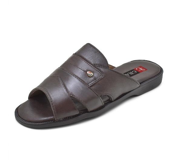 Sandália Masculina Em Couro Super Conforto Granado 408