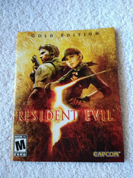 Manual Do Game Resident Evil 5 Gold Edition Ps3 *** Leia