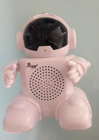 Robot Android Mp3 Fm Usb Cartão Grava E Muda A Voz