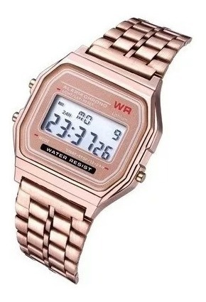 Relógios Feminino Casio Digital Aço Rosa