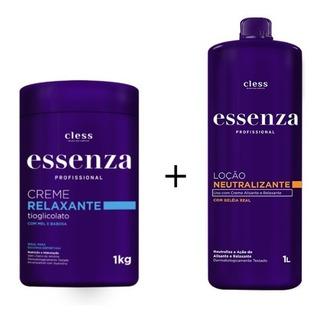 Kit Essenza Cr.relaxante Tioglicolato 1 Kg + Neutralizante