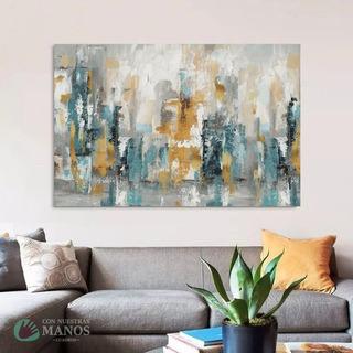 Cuadros Abstractos Decoración Lienzo 100cm X 70cm Diseños 1