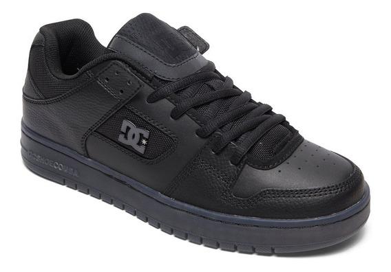 Zapatillas Dc Mod Manteca Se Negro Negro Cuero!!! 2019
