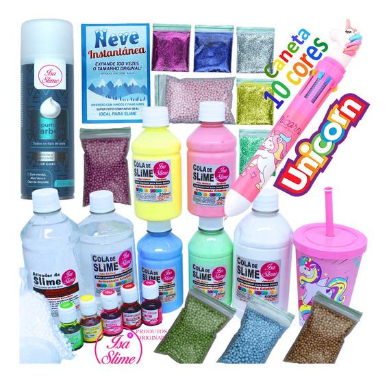 Kit Completo Para Fazer Slime Premium Verão