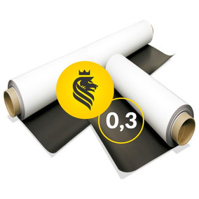 Rolo 10 Metros X62cm Imã Manta Magnética Vinílica 0,3 Fermag