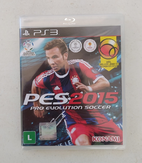 Jogo Pro Evolution Soccer 2015 Ps3 - Pes 15 - Playstation 3