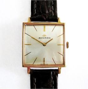 Relógio Movado Swiss Made Super Slim Vintage Folhado Ouro