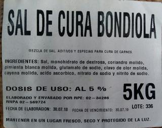 Sal De Cura Para Bondiolas X 5kg