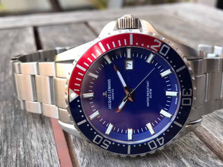 Reloj Jacques Lemans Diver 200 Metros - 44 Mm- Swiss - 0km.