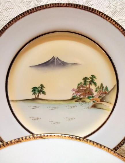 Platos De Porcelana Tsuji. Dos Iguales De 26,8 Cm