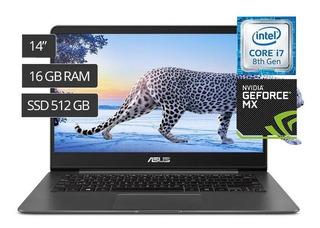 Asus Zenbook I7 I7 8va 512ssd Nvidia 14
