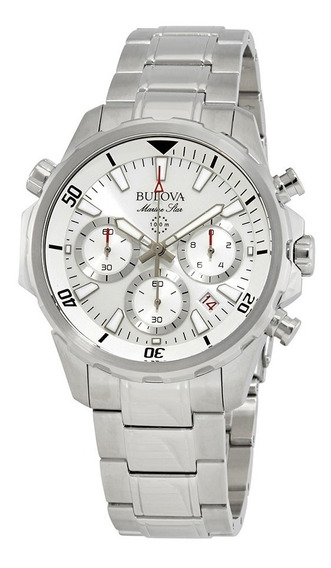 Relógio Bulova Masculino Marine Star Wb31934q 96b255 Prata