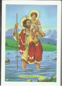 Santinho São Cristóvão Com Oração - 100 Unidades