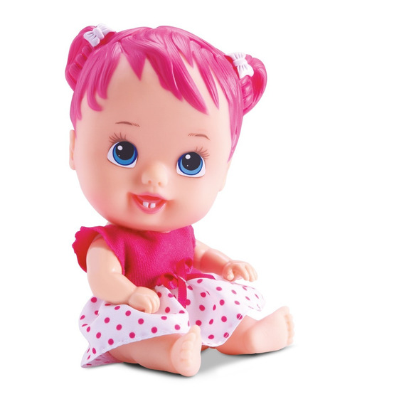 Boneca Little Dolls - Cores E Sabores- Cereja -divertoys