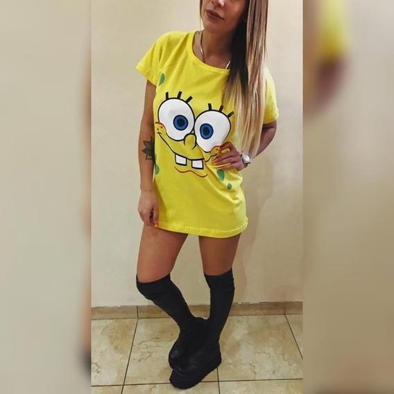 Remeron De Mujer Juvenil Largo Estampado Simpson Angel Moda