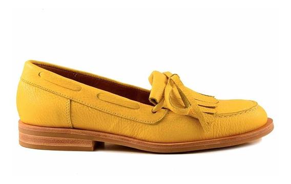 Mocasín Mujer Cuero Briganti Zapato Chatita Casual Mcmo03652