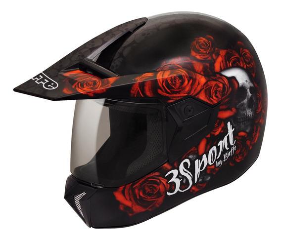 Capacete Moto Bieffe 3 Sport Fortress Feminino - 3 Em 1