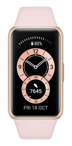 """Imagen 1 de 4 de Huawei Band 6 1.47"""" caja de  polímero  gold malla  sakura pink de  silicona FRA-B19"""