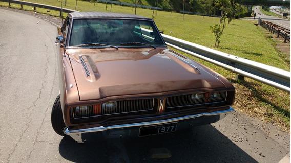 Dodge Charger R/t 5.2 V8 Marrom Iguaçu 1977 Placa Preta