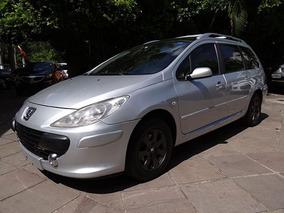 Peugeot 307 Sw 2008 Prata Flex