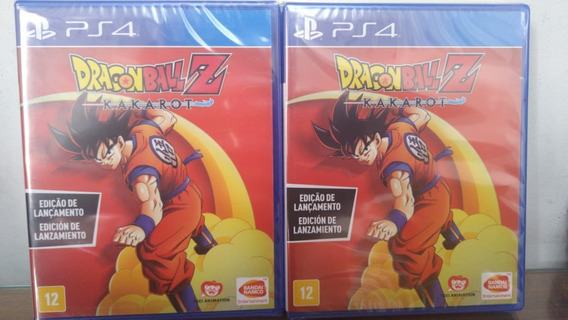 Dragon Ball Z Kakarot Ed Lançamento Ps4 Mídia Física Lacrado
