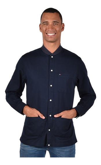 Camisa Tommy Hilfiger Azul Mw0mw03796-416 Hombre