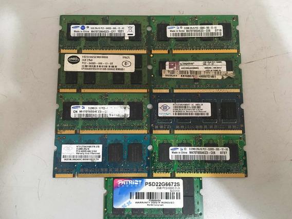 Lote De Memórias Ram Ddr2 Notebook