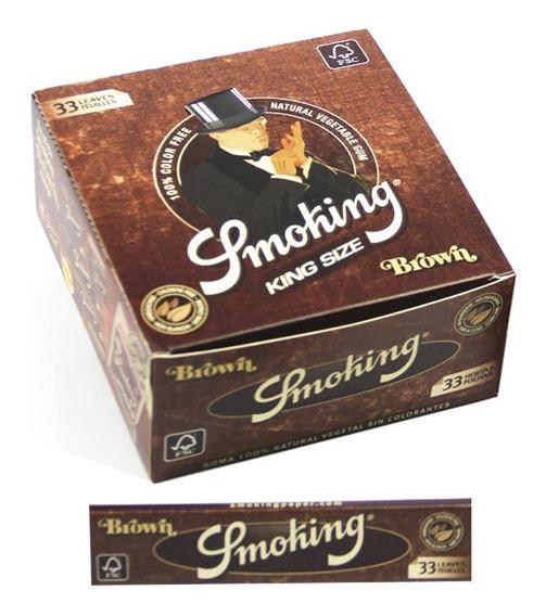 Seda Smoking Brown King Size 2 Caixas Com 50 Livretos