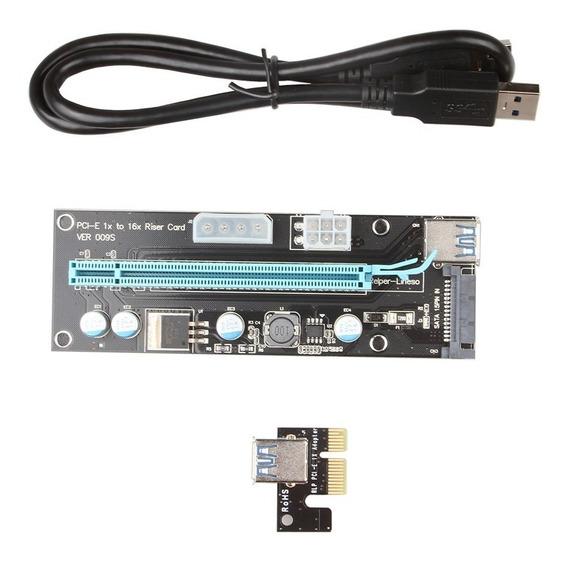 Riser Pci Express Usb 3.0 Pcie X1 X16 V009s Molex 4pin Sata