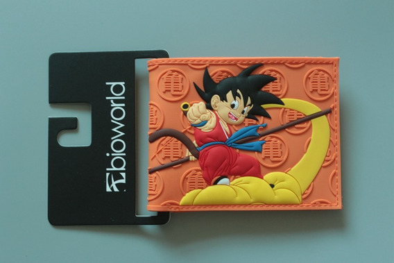 Billetera Dragon Ball Goku Naranja Bioworld Hombre
