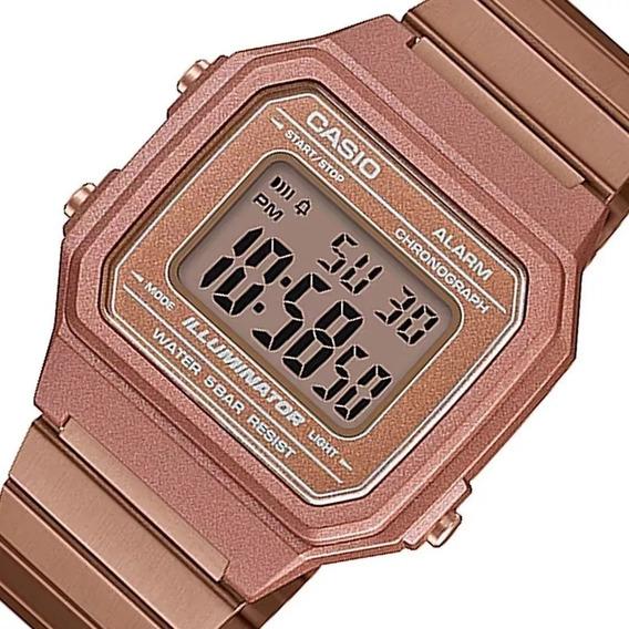 Relógio Casio Feminino Vintage B650wc 5adf Rose Digital Off