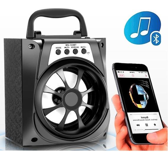 Caixa De Som Portátil Usb Mp3 Radio Fm