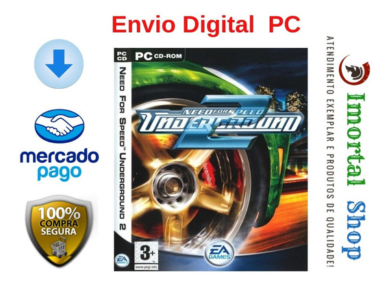 Need For Speed Underground 2 - Mídia Digital Pc