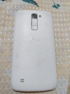 LG K10 16 Gb, Dual Chip, Branco Usado Com Tela Trincada.