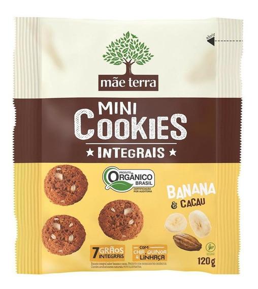 Mini Cookies Mãe Terra Banana E Cacau Orgânico 120 Gr