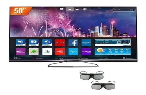 Tv Philips 50pug6900/78 =tela(display)quebrada = P/ret.peças