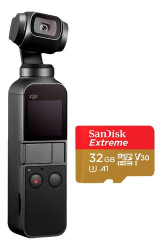 Câmera Portátil Estabilizada Osmo Pocket Dji E Cartão 32gb