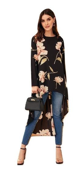 Blusón Floreado Elegante Blusas Dama Blusas De Moda Ropa Mujer