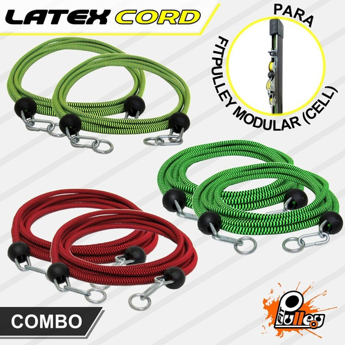 Combo Latex Cord Para Fitpulley Cell
